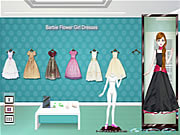 Barbie Flower Girl Dresses game flash online