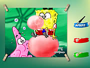 coloring sponge bob and patrick game online free