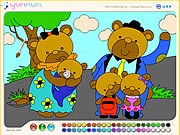bear family colouring game online free
