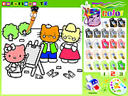 hello kitty painting coloring game online free