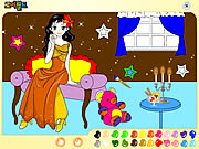 painting lovely girl colors game online free