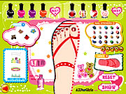 sweet feet nail polish free game on line
