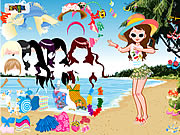 beach fashion dresses hairstyle free game online