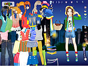 night life dress up game girls online