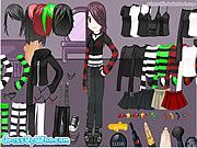 emo girl make dress up