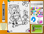 spongebob square pants coloring pages free game on
