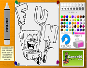 sponge bob fun coloring pages free game