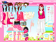 pink closet dress up free game girls