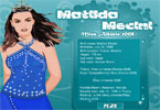 matilda mecini miss albania 2008 dress up