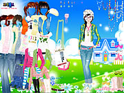 dress up for spring doll