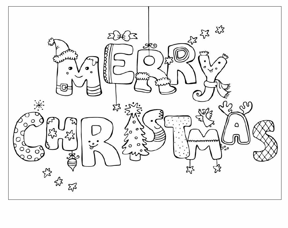 - Merry Christmas Greeting Card Picture Coloring 22 - موقع العاب شمس