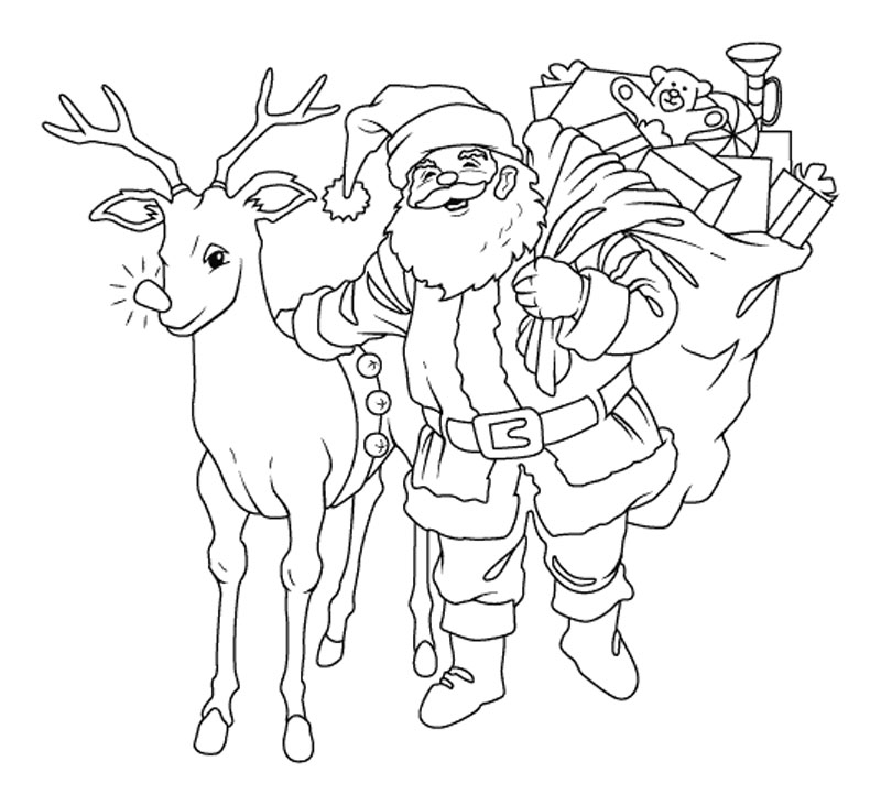 Christmas Coloring Pages To Print Reindeer Tremendous Young Adult ... | 731x800
