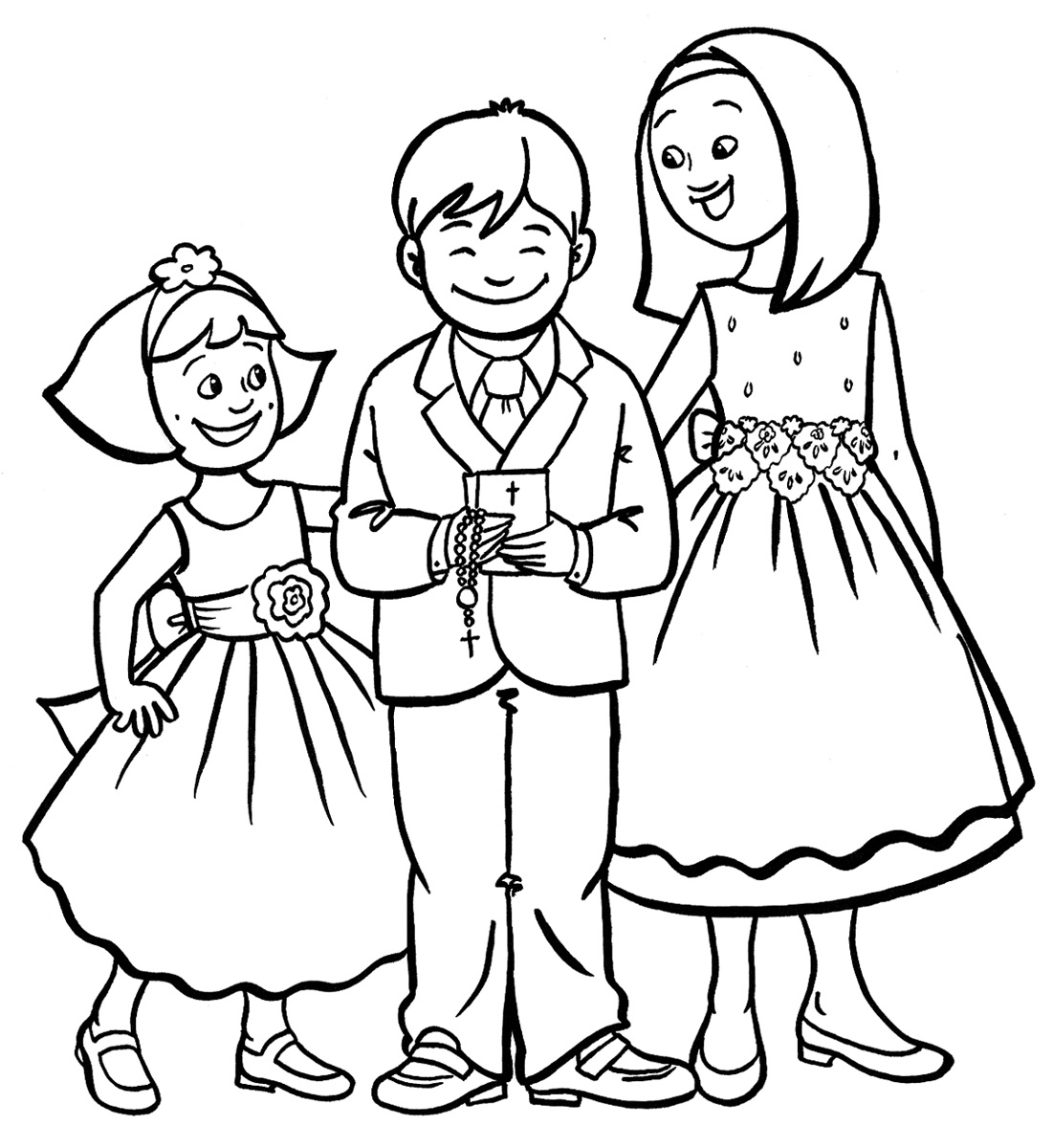 Free Girl And Boy Coloring Page, Download Free Clip Art, Free Clip Art on  Clipart Library | 1200x1101