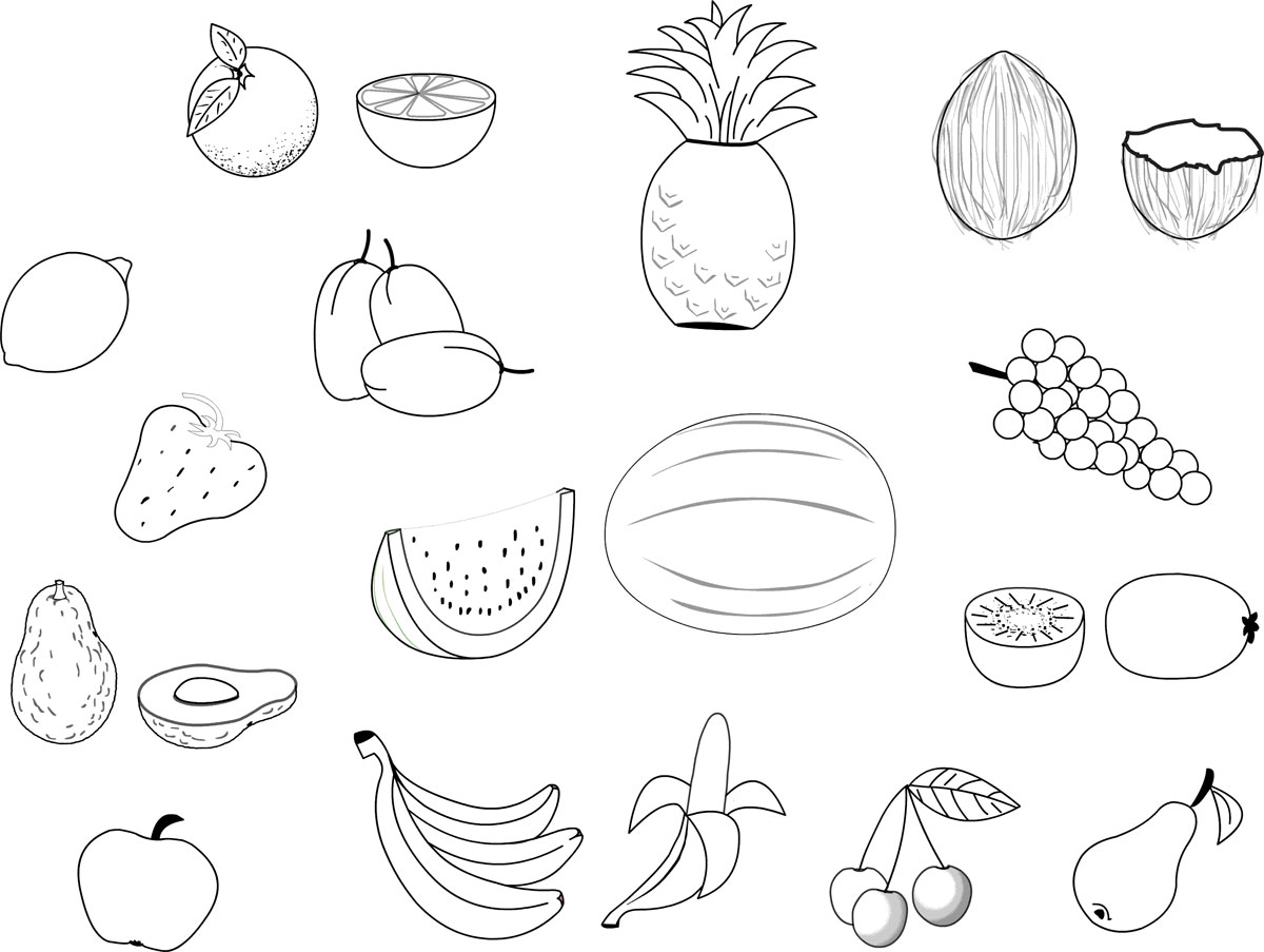 Fruit Picture Coloring Pages 11 موقع