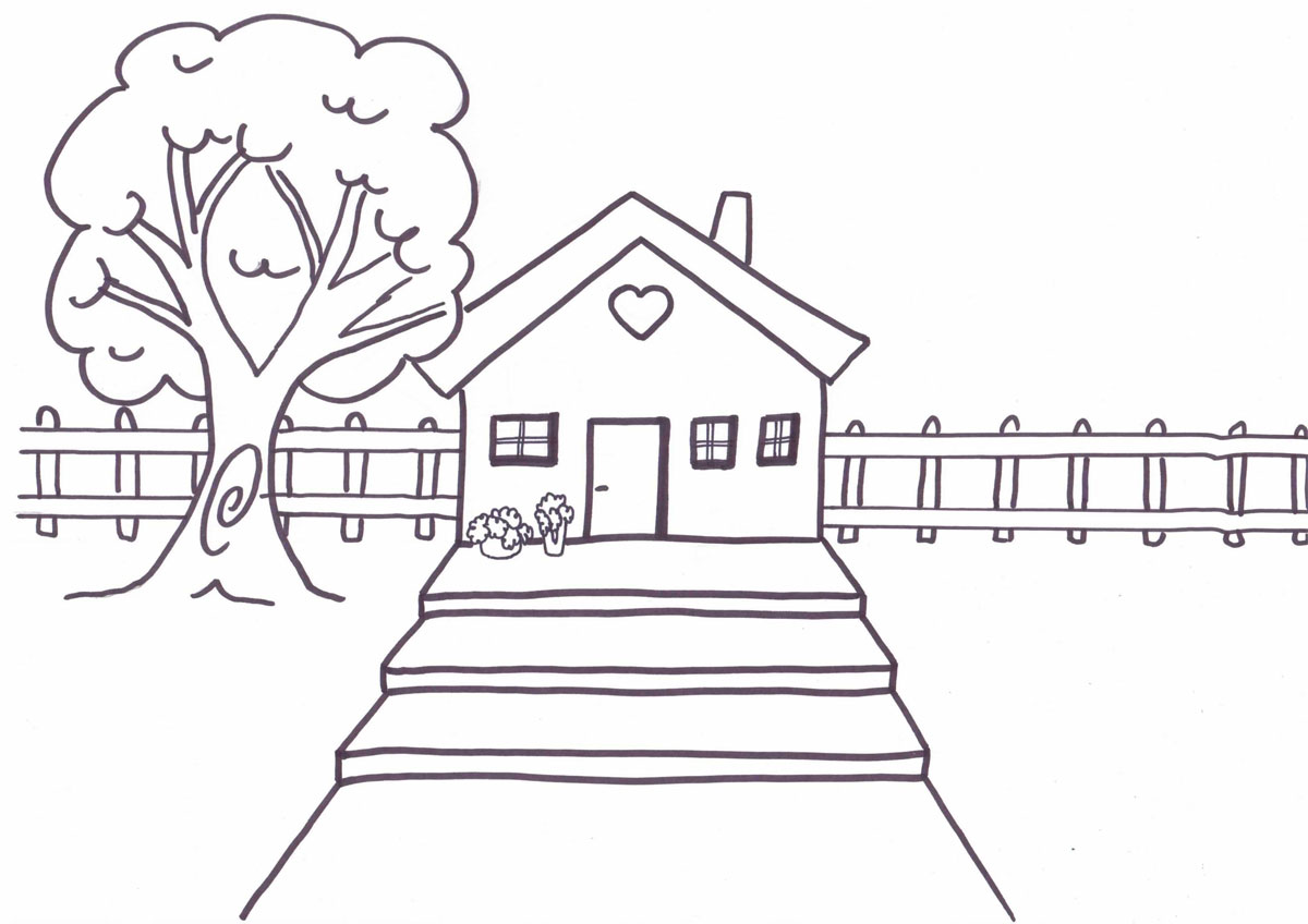 House Picture Coloring Pages 42 موقع العاب شمس فلاش Al3ab