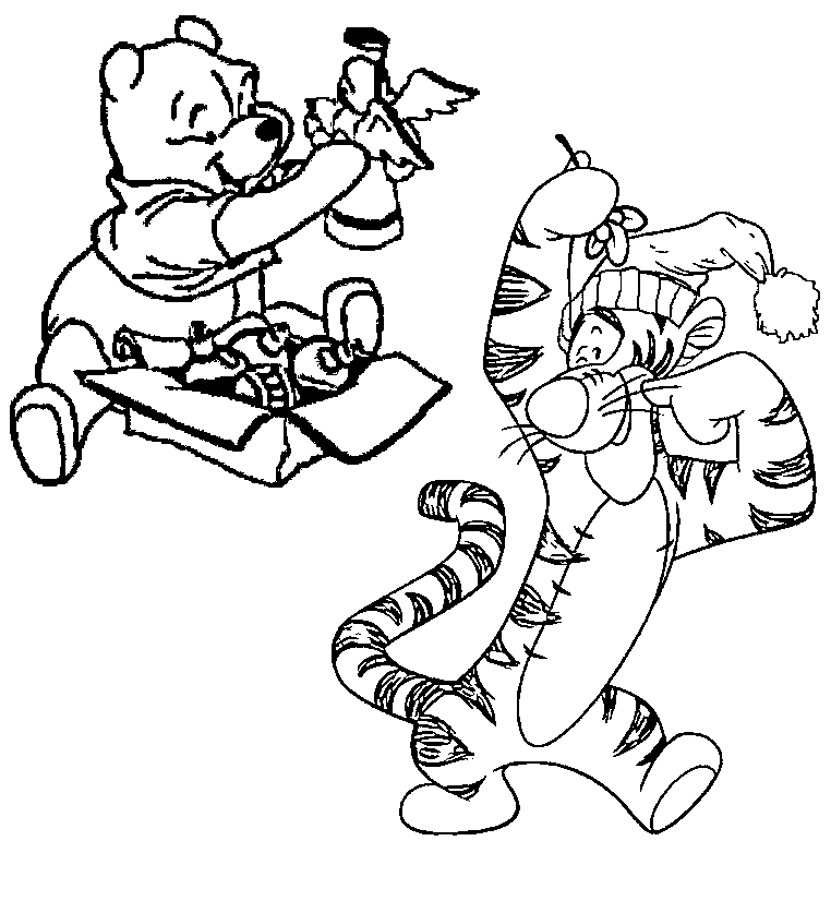 tigger and winnie the pooh coloring page | huixin_ng | Flickr | 826x762