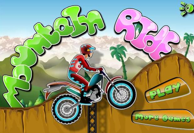 mountain ride bike flash game