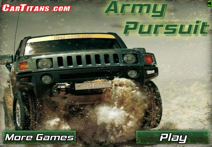play army pursuit flash game