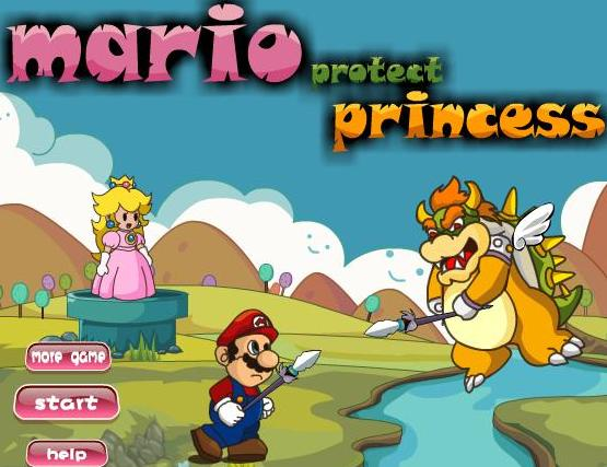 play mario protect princess flash game