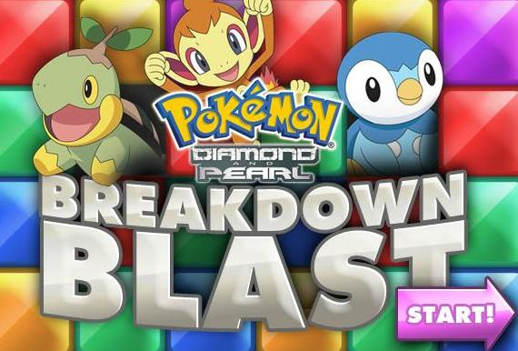 play pokemon diamond and pearl breakdown blast flash game