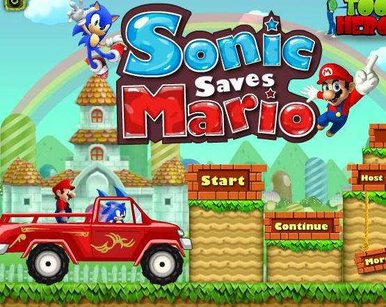 play sonic saves mario game 2014