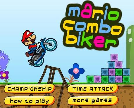 play super mario combo biker game 2014