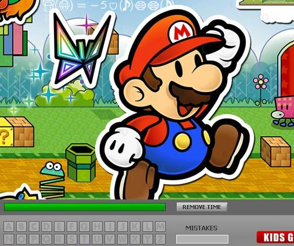 play super mario hidden letters game 2014