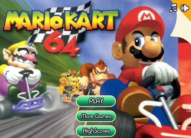 play super mario kart 64 game 2014