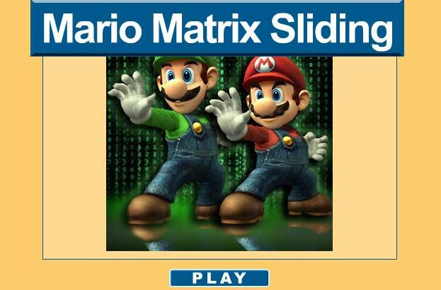 play mario matrix sliding game 2014