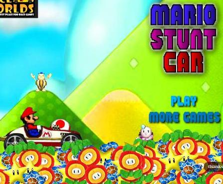 play super mario stunt car game 2014