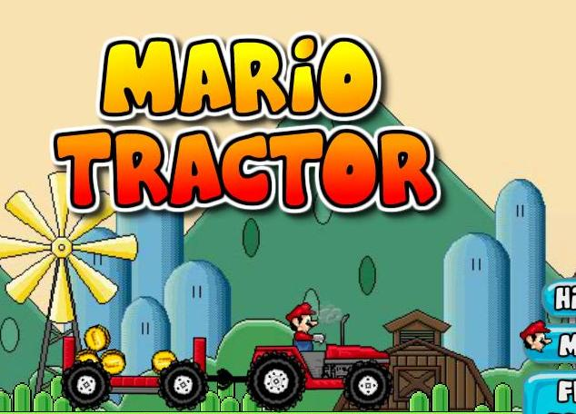 super mario tractor flash game online
