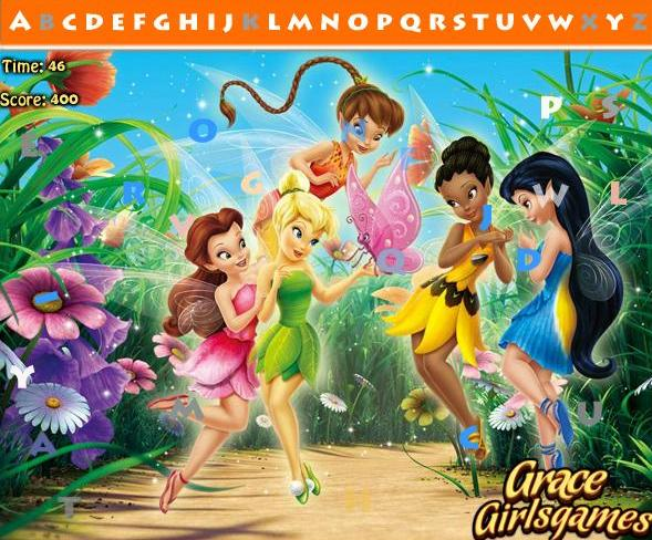 tinkerbell hidden alphabets hidden objects girls game 2014