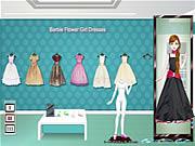 Barbie Flower Girl Dresses game flash online