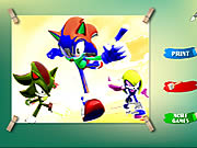 sonic coloring game online free
