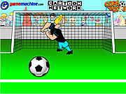 johnny bravo in bravo goalie football game online