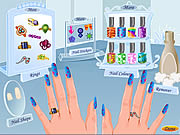 funky nail art free game on line