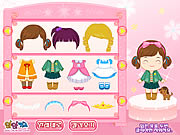 cute kindergarten kid dresses hairstyle free game