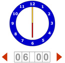 learning english numbers by the clock game online