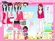pink closet dress up free game girls