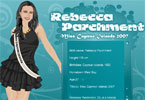 miss cayman islands rebecca parchment dress up