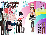 rainbow dress up free girl game online