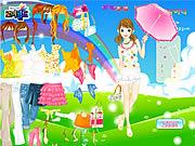 spring umbrella dress up free girl game online