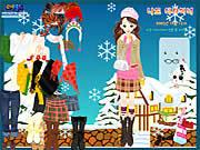 winter dress up free girl