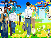 dress up spring couple free online game