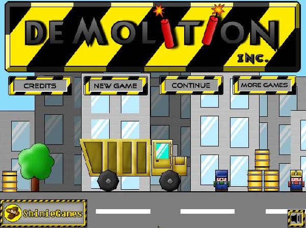 demolition inc flash game online
