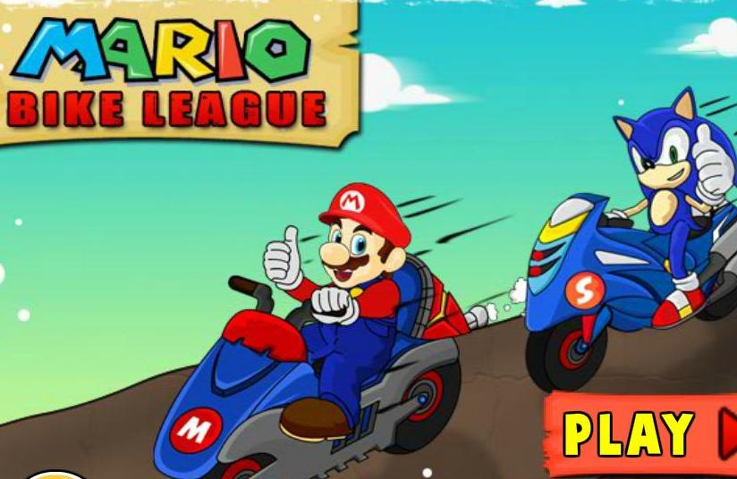 super mario bike league flash game