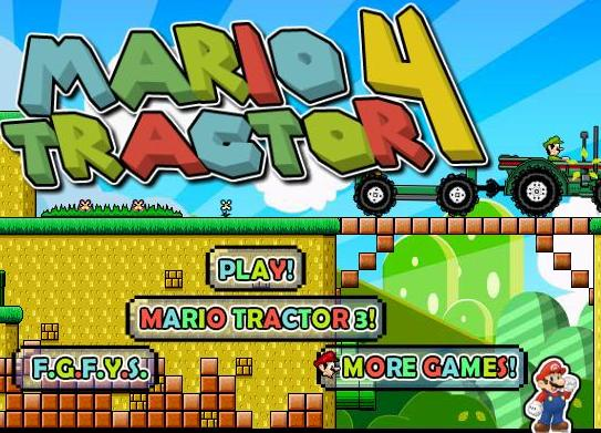 super mario tractor 4 flash game online